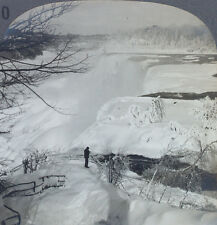 Keystone Stereoview American Falls, Niagara Falls - Winter from Education Set #B