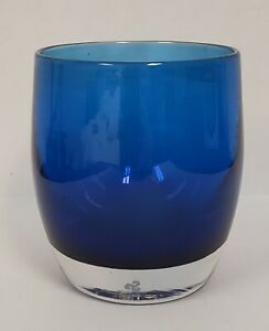 "Unavailable Glassybaby!! ""GIVE"" A Beautiful Colbalt Blue   Candle Votive Holder."