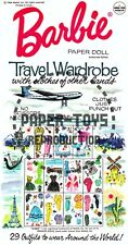 Vintage Reprint - 1966 - Barbie Travel Wardrobe Paper Doll Box - Reproduction