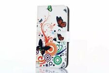 New Retro owl butterfly Leather slot wallet flip pouch stand case skin cover Z33