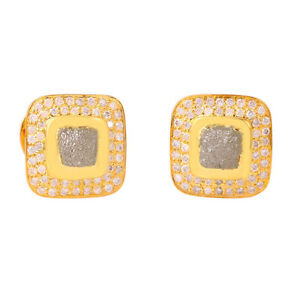 5.31Ct Diamond 18K Solid Yellow Gold Men's Cufflinks Party Wear Fashion Jewelry