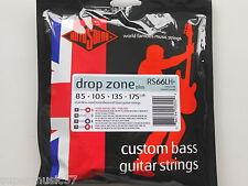Rotosound RS66LH+ Drop Zone plus acier inoxydable long scale bass cordes 85-175