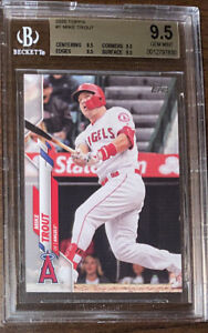 Mike Trout 2020 Topps Series 1 BGS 9.5 True Gem Mint Non Auto Angels Gold Label