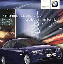 BMW 3 3er INDIVIDUAL E46 Youngline Sondermodell Prospekt Sales Brochure 2001