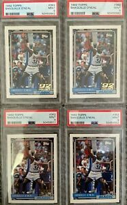 1992 Topps Shaquille O'Neal #362 Rookie Card PSA 9 MINT *Investor Lot of 4*