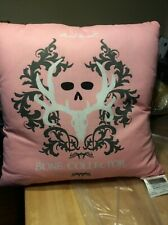 Bone Collector Square Pillow, Pink 18x17
