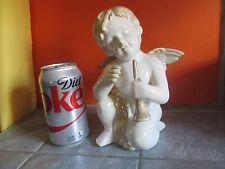 Cute CHERUB Angel with FLUTE Statue Figurine
