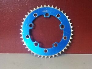 Vintage BLUE GT WINGS PRO OLD SCHOOL BMX disc chain ring SPROCKET FREESTYLE 43