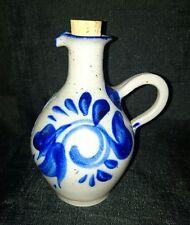 GRES DE LA ROCHE Salt Glased Pottery Oil Decanter / Pitcher 14 x 11cm