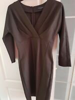Designer Brown fitted  Dress Piazza Sempione made in Italy  Size IT 42