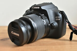 CANON 1200D DSLR CAMERA KIT WITH CANON LENS BATTERY CHARGER STRAP & 4GB SD