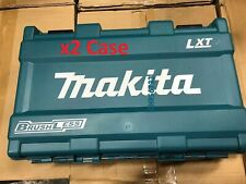 x2 Makita Hard Case XT248/XT269  Fits Most Makita 18V Drills Impacts XDT13 XPH12