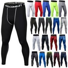 Men's Compression Base Layer Pants Leggings Gym Fitness Sportswear Trousers O17