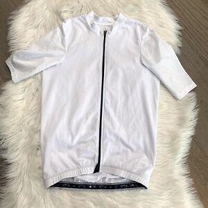 Wattie Ink Full Zip White Cycling Jersey M NWOT