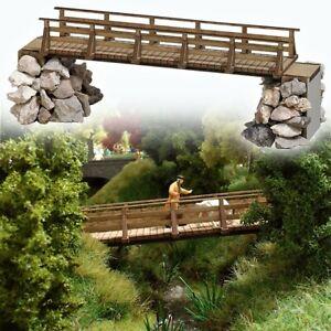 HO Scale Accessories - 1497 - Wooden Bridge - Kit
