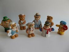Lot of 8 Enesco Lucy & Me Bears Ceramic Figurines Hancock Franklin Nurse