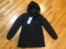 NEW CANADA GOOSE CAMP HOODED COAT WOMENS BLACK 5085L LIGHT WEIGHT DOWN FREE SHIP