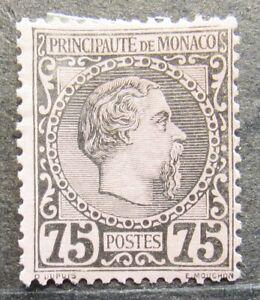 Monaco 1885 Definitive issue, Prince Charles III, 75C, Mi #8 CV=EUR250 MH