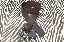 G-Star Raw Cinturón De Cuero Marrón DK Polo Zed envejecido semi-áspero cinturones BNWT RP £ 55