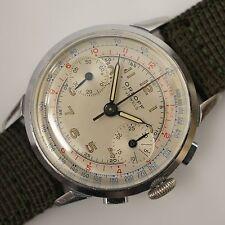 1950s Vintage Men's Orloff Mens Chronograph Watch Works Valjoux 92 Swiss