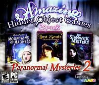 Amazing Hidden Object Games Paranormal Mysteries 2 PC Games Window 10 8 7 XP NEW