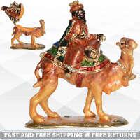 Camel Trinket Box Hinged Lid Enamel Bejeweled Rhinestone Figurine Ornament Decor