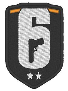 E0040  COSPLAY AIRSOFT GAME EMBROIDERED RAINBOW SIX LOGO  R6