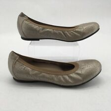 Munro Womens Brandi Ballet Flat Shoes Metallic Floral Perforated Slip Ons 9 M