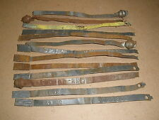 vintage train RAILROAD cargo box Security Metal Bands - lot of 13