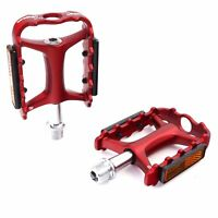 "Wellgo M-111 9/16"" Aluminum Platform Pedale for MTB Mountainbike - Rot"