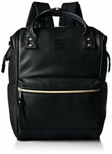 Anello Synthetic Leather Backpack Large Black AT-B1211BK Authentic Japan F/S