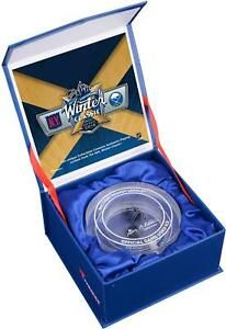 2018 NHL Winter Classic NY Rangers vs. Sabres Crystal Puck - Filled & Ice