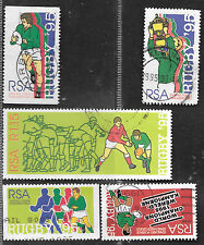SOUTH AFRICA 1995 WORLD CUP RUGBY CHAMPIONSHIP COMPLETE POSTAL USED SET 0540