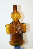 AMBER BLOWN GEORGE WASHINGTON FIGURAL REPRO SIMON'S CENTENNIAL BITTERS BOTTLE