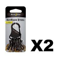 Nite Ize S-Biner KeyRack Black Stainless Steel Keychain Biner S-Biners 2-Pack