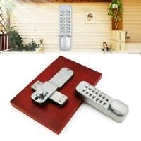 Home Mechanical Digital Door Lock Push Button Keyless Code Combination Lock Set