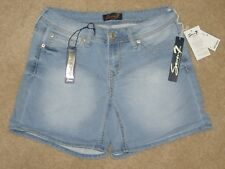NWT Womens Seven 7 Powell Blue Denim Light Wash Shorts Size 6 $49