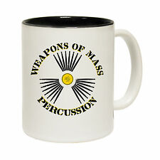 Weapons Of Mass Percussion Joke Drummer Percussionist MUG birthday funny gift