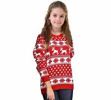 Unisex Kid Novelty Retro Santa Reindeer Boys Xmas Jumper Girls Christmas Jumpers