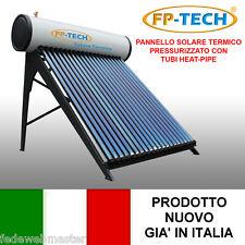 PANNELLO SOLARE TERMICO HEAT PIPE PRESSURIZZATO 180 LT ACCIAIO INOX ACQUA CALDA