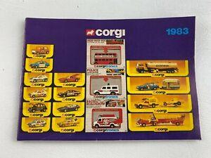 Vintage 1983 CORGI Collectors Toy Catalog Booklet Guide, Cars, Sets
