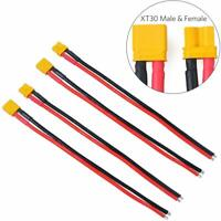 4pcs XT30 plug Male Female Connector 16AWG Silicone Wire for RC LiPo Battery FPV