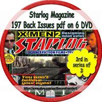 197 PDFs Starlog MAGAZINE FANZINE 5 DVDs -STAR TREK SciFi DVD 3rd in Series of 3