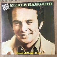 MERLE HAGGARD -16 NUMBER ONES  EX+ VINYL LP / Carolyn / Movin' On / Grandma Harp
