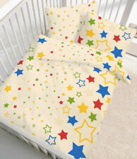 Baby Bettwäsche 100x135 Cm bunte Sterne Stern Biber B Ware