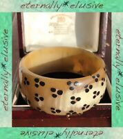 Antique Jewellery Vintage Tribal Hand Carved Painted Horn Bangle Cuff Bracelet