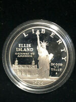 1986-S Proof Statue of Liberty Commemorative Silver Dollar Coin Only In Capsule