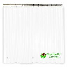 Bathroom Shower Liner Curtain Odorless Non Toxic Anti Mold Magnet Suction Cup