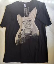 Vintage NIRVANA GUITAR T Shirt Size L Grunge Rock Kurt Cobain 90's ANVIL