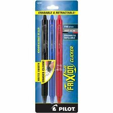 Frixion Clicker Erasable Gel Pen - 0.7 Mm Pen Point Size - Assorted Ink -